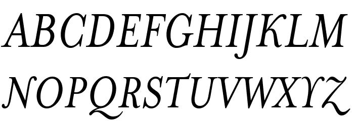 MrsEaves-Italic Font UPPERCASE