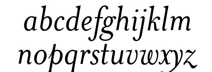 MrsEaves-Italic Font LOWERCASE