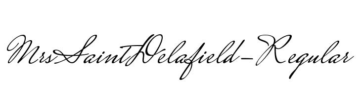 MrsSaintDelafield-Regular  Free Fonts Download