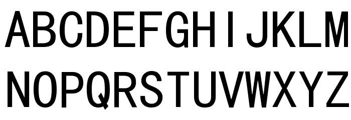 MS Gothic Font UPPERCASE