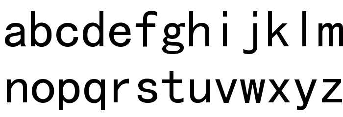 MS Gothic Font LOWERCASE