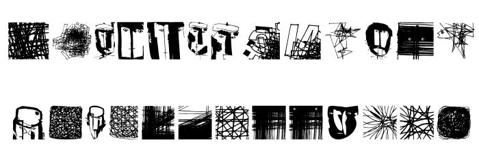 MSketchesTwo Medium Fonte MAIÚSCULAS