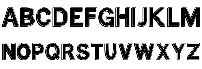 MTF Base Outline Font UPPERCASE