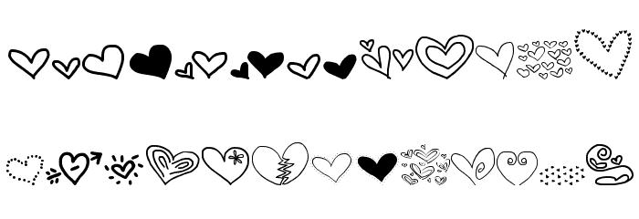 MTF Heart Doodle Font UPPERCASE
