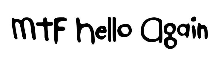 MTF Hello Again  Free Fonts Download