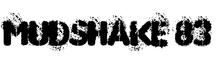 MUDSHAKE 83  Free Fonts Download