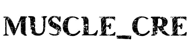 MUSCLE_CRE  Free Fonts Download