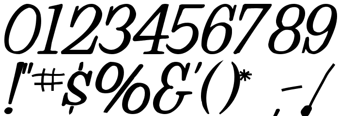 MuggyNew84 Bold Font OTHER CHARS