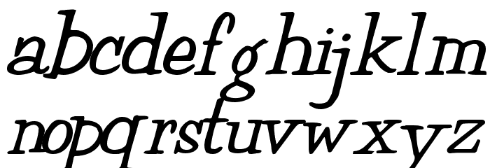MuggyNew84 Bold Font LOWERCASE