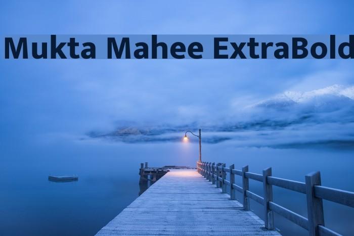 Mukta Mahee ExtraBold Font examples