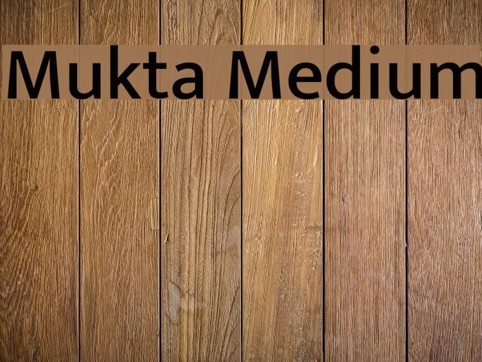 Mukta Medium Font examples