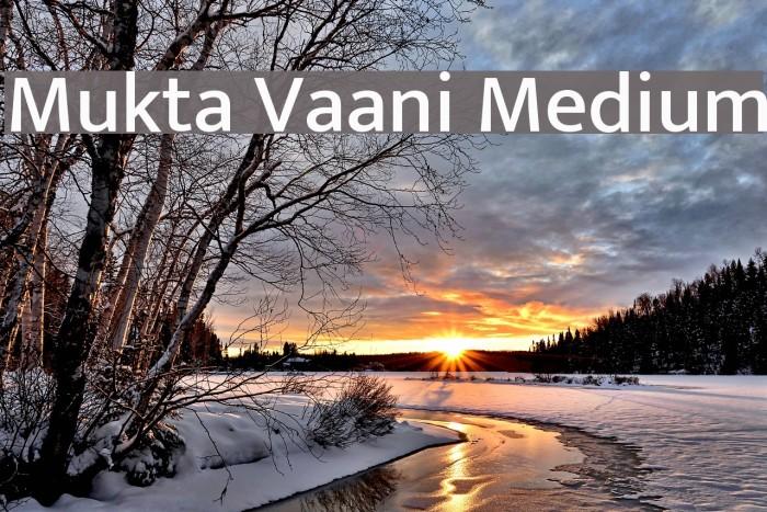 Mukta Vaani Medium Font examples