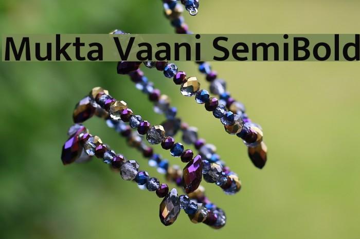 Mukta Vaani SemiBold Font examples