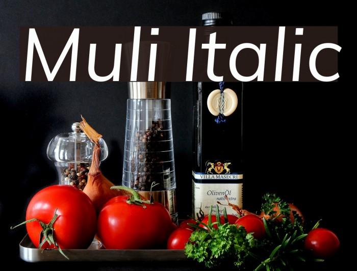 Muli Italic Font Ffonts Net