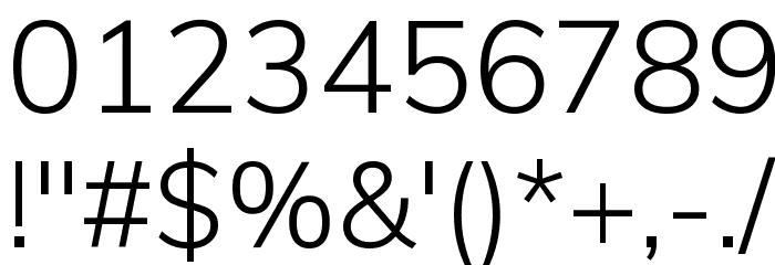 Muli Light Font OTHER CHARS