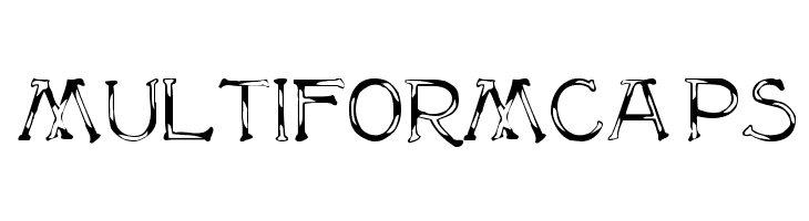 MultiformCaps  नि: शुल्क फ़ॉन्ट्स डाउनलोड