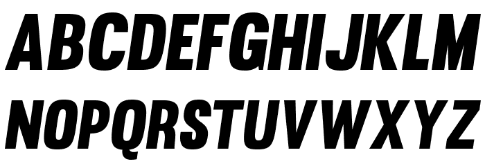 Muro-Slant Font UPPERCASE