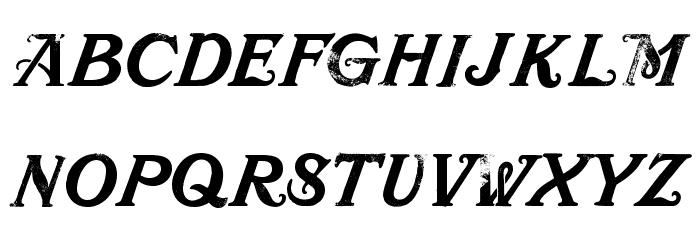 Mustachio Font Litere mici