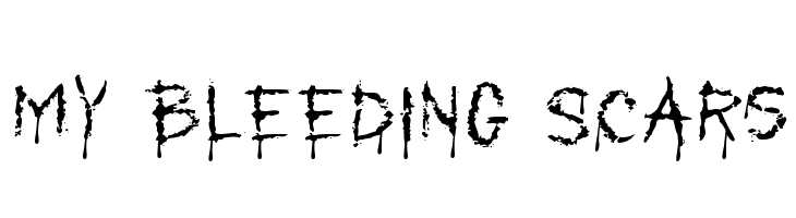 My Bleeding Scars  Free Fonts Download