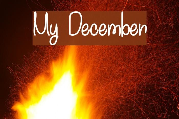 My December फ़ॉन्ट examples