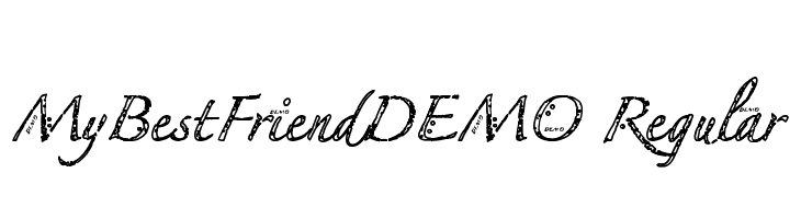 MyBestFriendDEMO Regular  Free Fonts Download