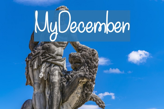 MyDecember Fonte examples