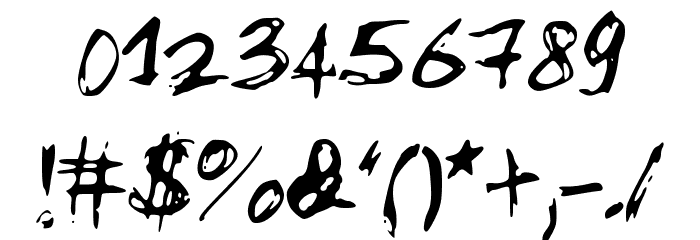 MySketchFont Font OTHER CHARS