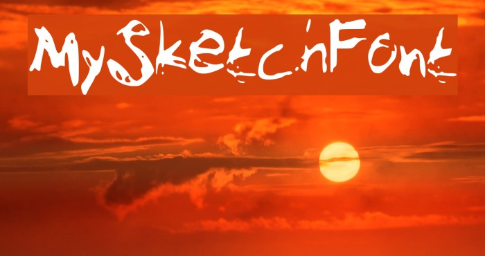 MySketchFont Font examples