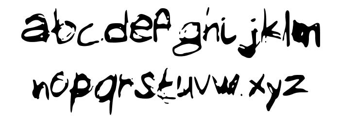 MySketchFont Font LOWERCASE