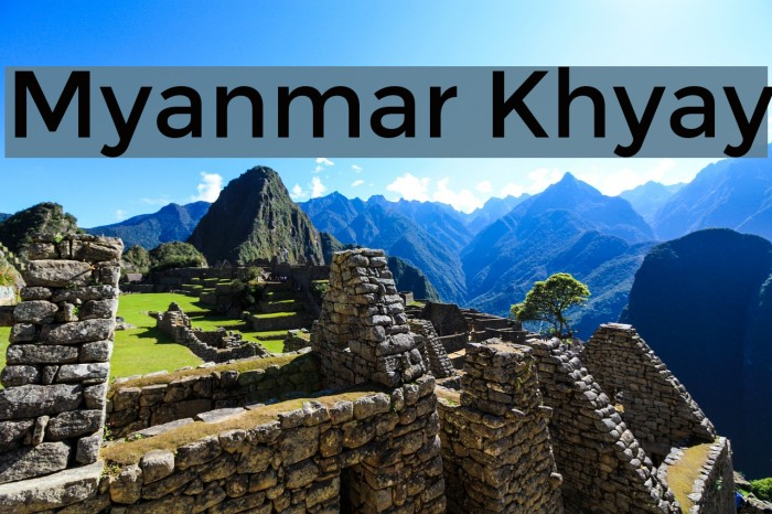 Myanmar Khyay Font examples