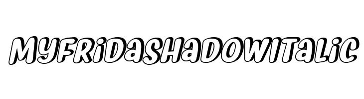 Myfrida Shadow Italic  Скачать бесплатные шрифты