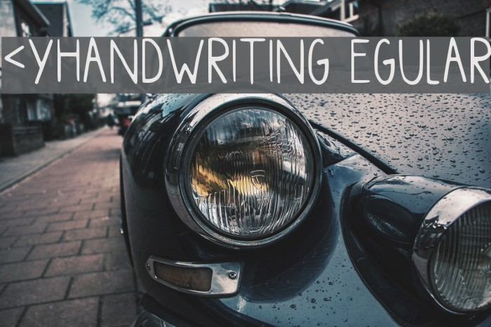 Myhandwriting Regular Polices examples