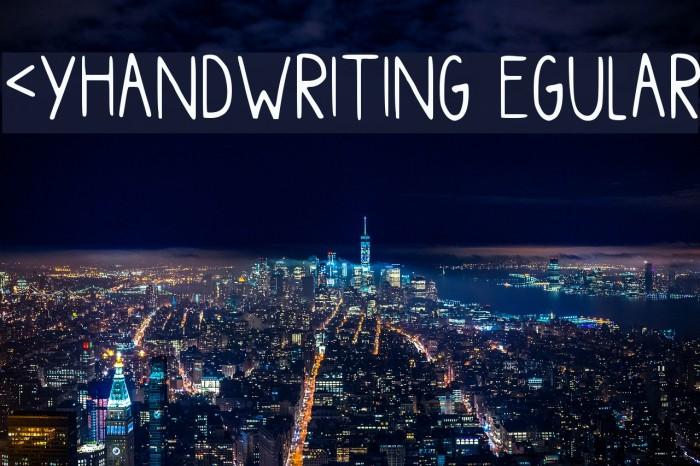 Myhandwriting Regular Font examples