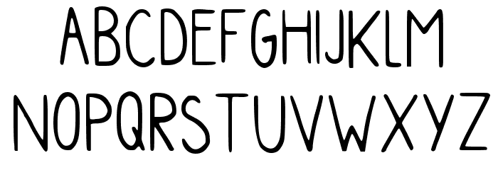 Myhandwriting Regular Font LOWERCASE