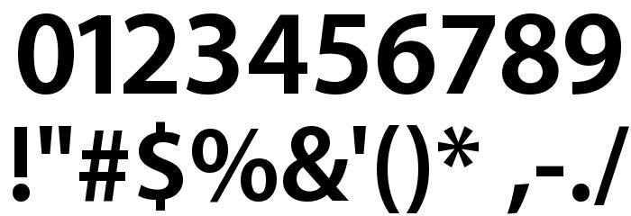 Myriad Apple Bold Font OTHER CHARS