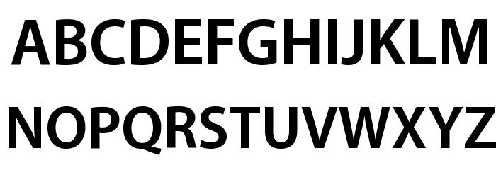 Myriad Apple Bold Font Litere mari