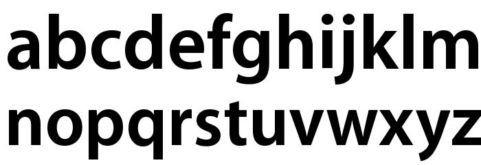 Myriad Apple Bold Font LOWERCASE