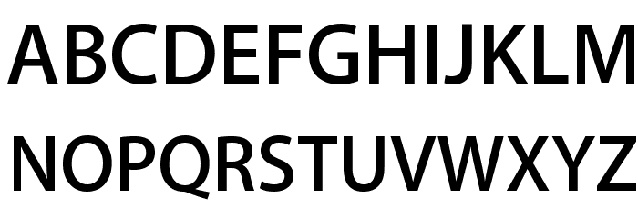 Myriad Apple Semibold Font UPPERCASE