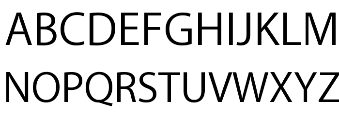 Myriad Apple Text Font UPPERCASE