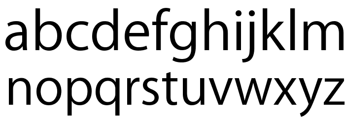 Myriad Apple Text Font LOWERCASE