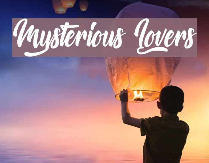 Mysterious Lovers Font examples