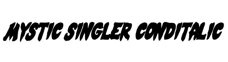 Mystic Singler CondItalic  les polices de caractères gratuit télécharger