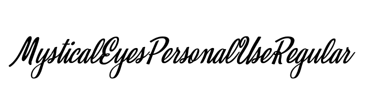 Mystical Eyes Personal Use Regular Font