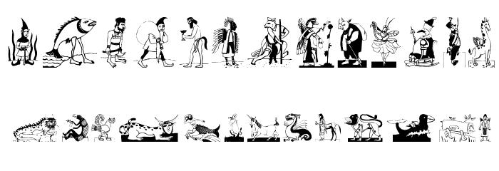 MythologicBats फ़ॉन्ट अपरकेस