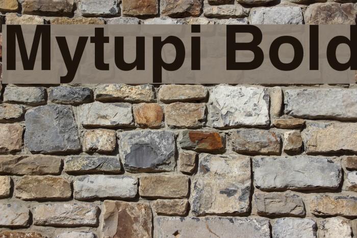 Mytupi Bold Font examples
