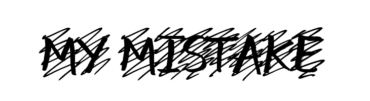 my mistake  Free Fonts Download