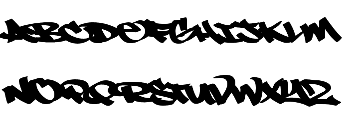 N ! C E Tag Font UPPERCASE