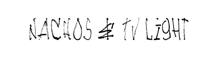NACHOS & TV Light Font