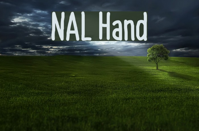 NAL Hand Font examples