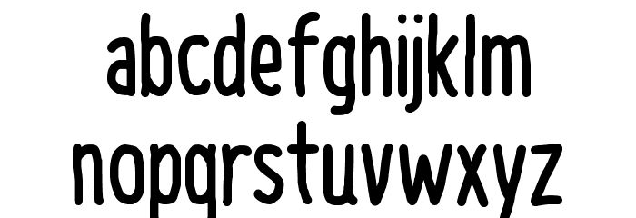 NAL Hand Font LOWERCASE